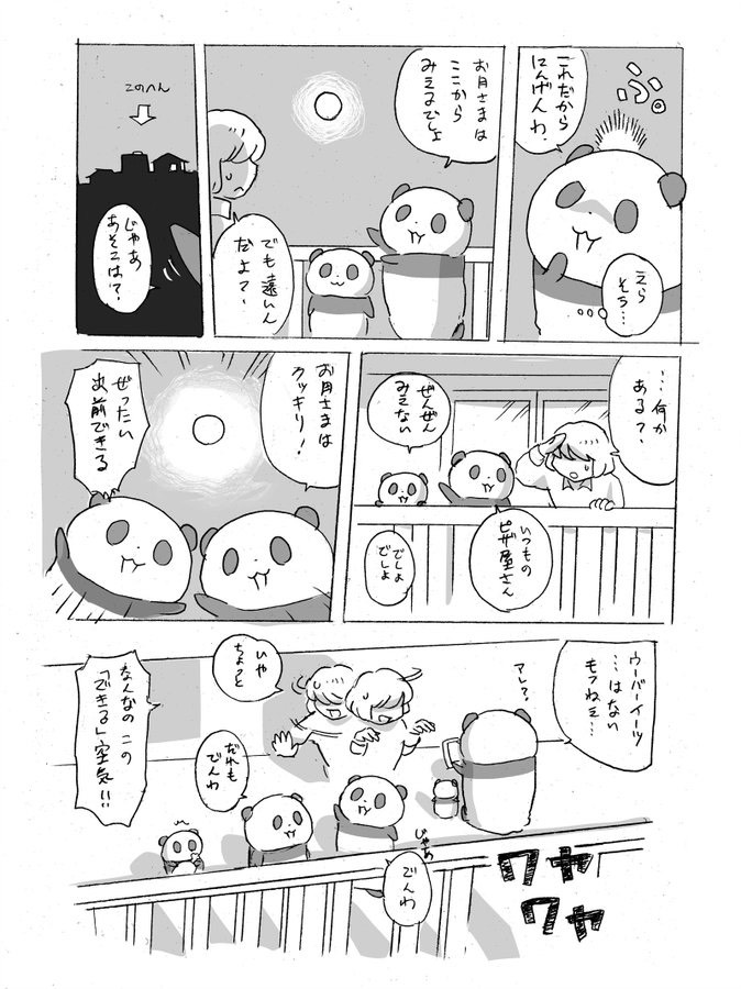 皆既月食パンダ漫画